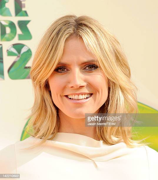 Model Heidi Klum attends Nickelodeon's 25th Annual Kids' Choice Awards held at Galen Center on March 31 2012 in Los Angeles California
