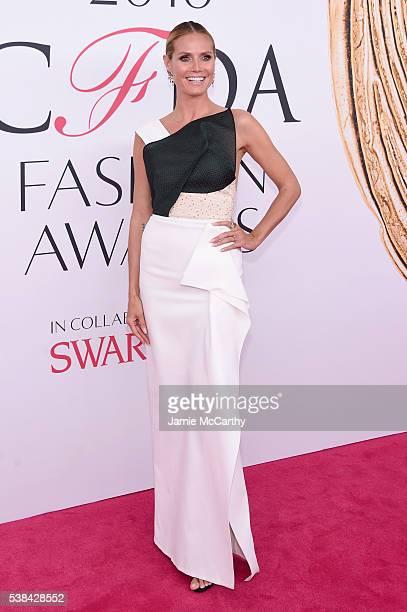 Model Heidi Klum attends the 2016 CFDA Fashion Awards at the Hammerstein Ballroom on June 6 2016 in New York City