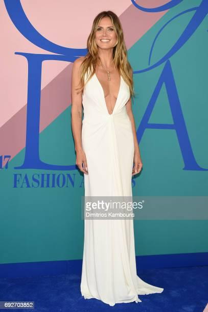 Model Heidi Klum attends the 2017 CFDA Fashion Awards at Hammerstein Ballroom on June 5 2017 in New York City