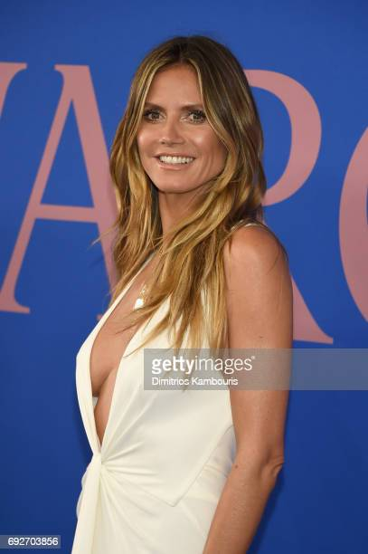 Model Heidi Klum attends the 2017 CFDA Fashion Awards at Hammerstein Ballroom on June 5 2017 in New York City