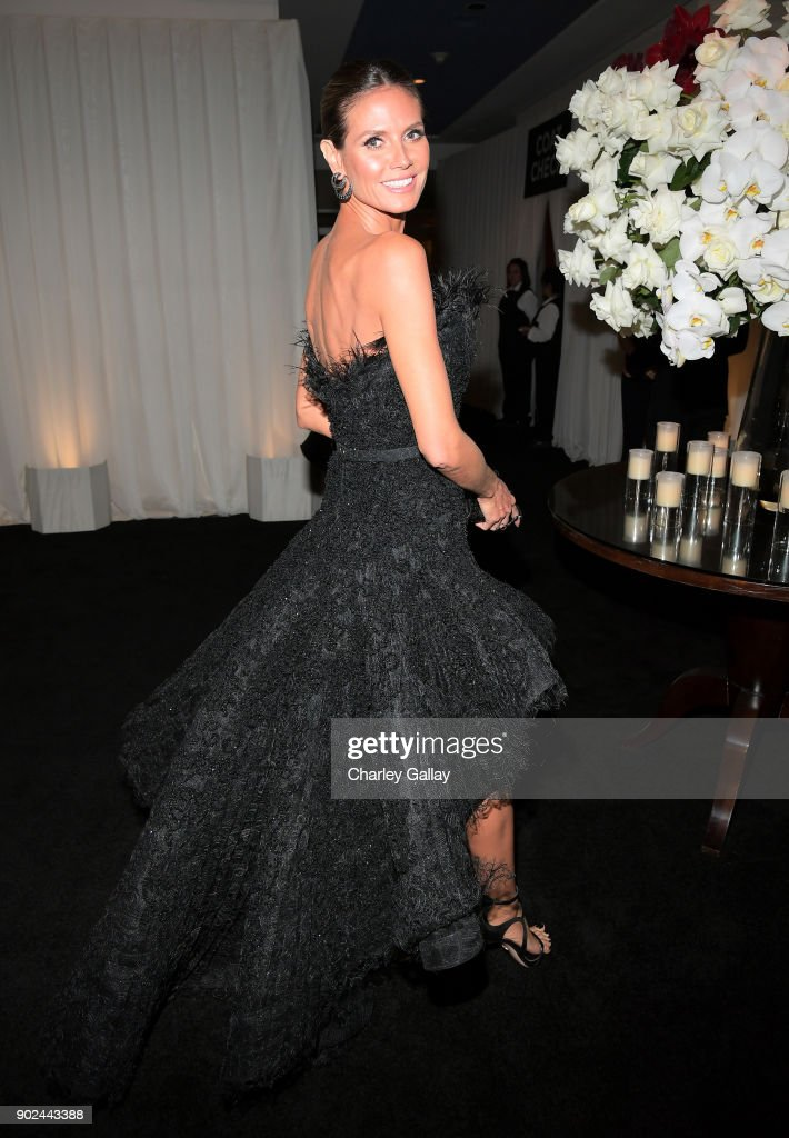 Model Heidi Klum attends the 2018 InStyle and Warner Bros. 75th Annual Golden Globe Awards Post-Party at The Beverly Hilton Hotel on January 7, 2018 in Beverly Hills, California.