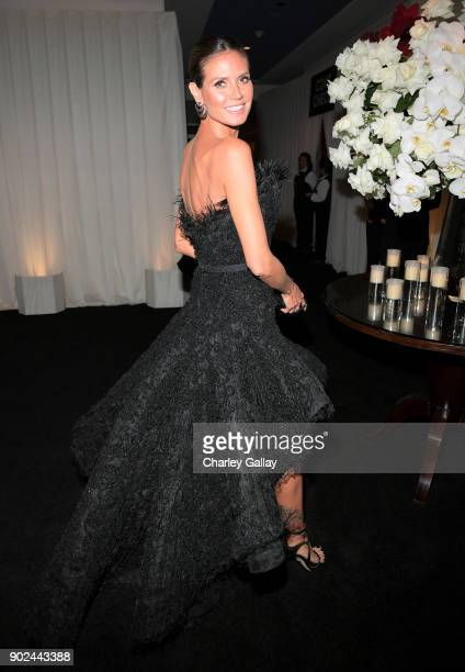 Model Heidi Klum attends the 2018 InStyle and Warner Bros 75th Annual Golden Globe Awards PostParty at The Beverly Hilton Hotel on January 7 2018 in...