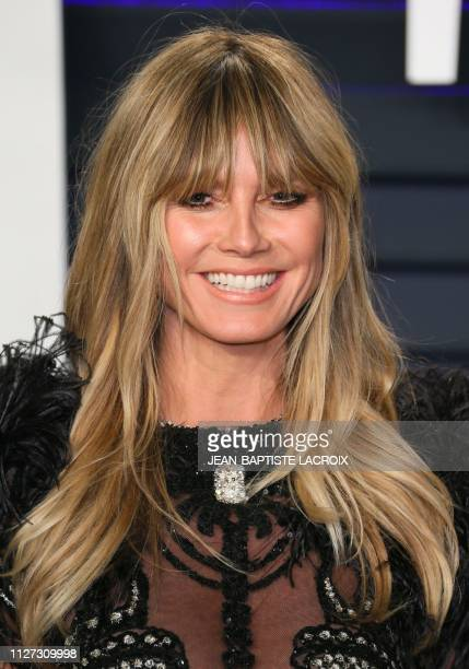 Model Heidi Klum attends the 2019 Vanity Fair Oscar Party following the 91st Academy Awards at The Wallis Annenberg Center for the Performing Arts in...