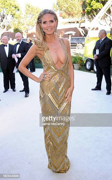 Model Heidi Klum attends the 21st Annual Elton John AIDS Foundation Academy Awards Viewing Party at West Hollywood Park on February 24, 2013 in West...