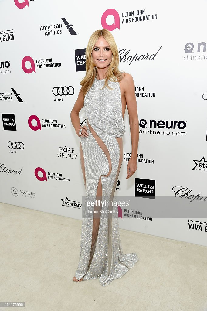 Model Heidi Klum attends the 23rd Annual Elton John AIDS Foundation Academy Awards Viewing Party on February 22, 2015 in Los Angeles, California.