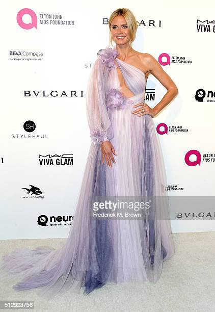 Model Heidi Klum attends the 24th Annual Elton John AIDS Foundation's Oscar Viewing Party on February 28, 2016 in West Hollywood, California.