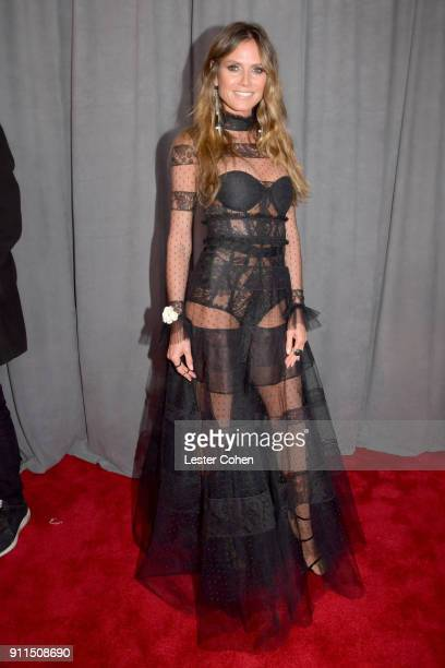 Model Heidi Klum attends the 60th Annual GRAMMY Awards at Madison Square Garden on January 28 2018 in New York City