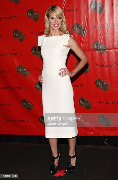 Model Heidi Klum attends the 67th Annual Peabody Awards at the Waldorf Astoria June 16 2008 in New York City