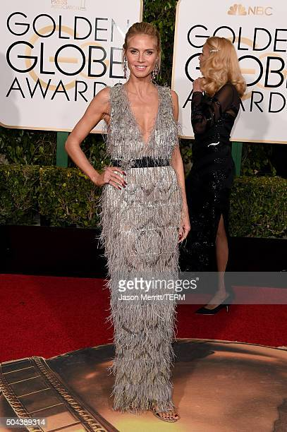 Model Heidi Klum attends the 73rd Annual Golden Globe Awards held at the Beverly Hilton Hotel on January 10 2016 in Beverly Hills California