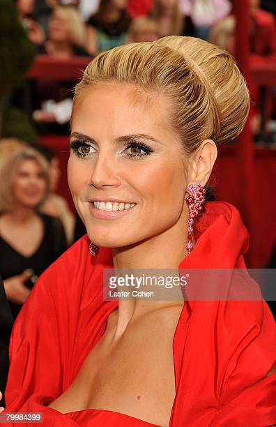 Model Heidi Klum attends the 80th Annual Academy Awards at the Kodak Theatre on February 24 2008 in Los Angeles California