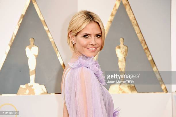 Model Heidi Klum attends the 88th Annual Academy Awards at Hollywood & Highland Center on February 28, 2016 in Hollywood, California.
