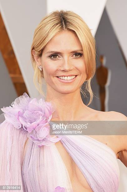 Model Heidi Klum attends the 88th Annual Academy Awards at Hollywood Highland Center on February 28 2016 in Hollywood California
