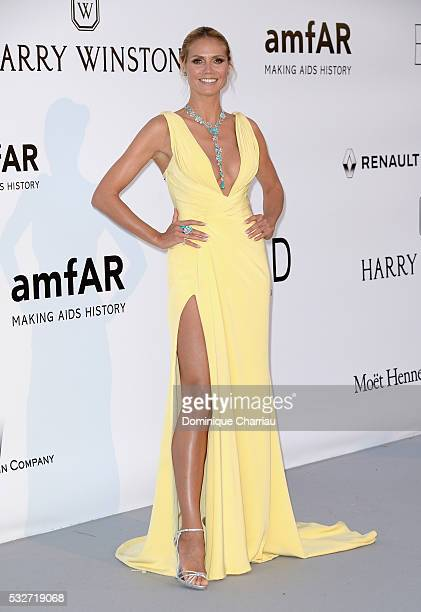 Model Heidi Klum attends the amfAR's 23rd Cinema Against AIDS Gala at Hotel du CapEdenRoc on May 19 2016 in Cap d'Antibes France