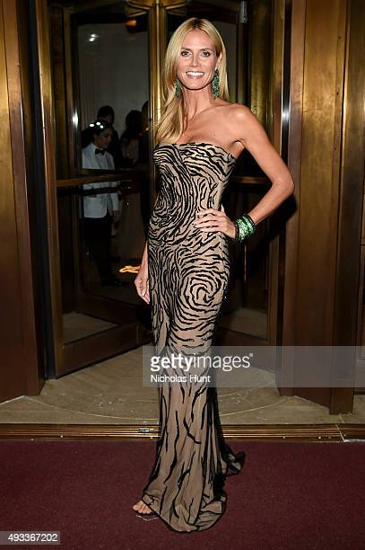 Model Heidi Klum attends the Angel Ball 2015 hosted by Gabrielle's Angel Foundation at Cipriani Wall Street on October 19 2015 in New York City