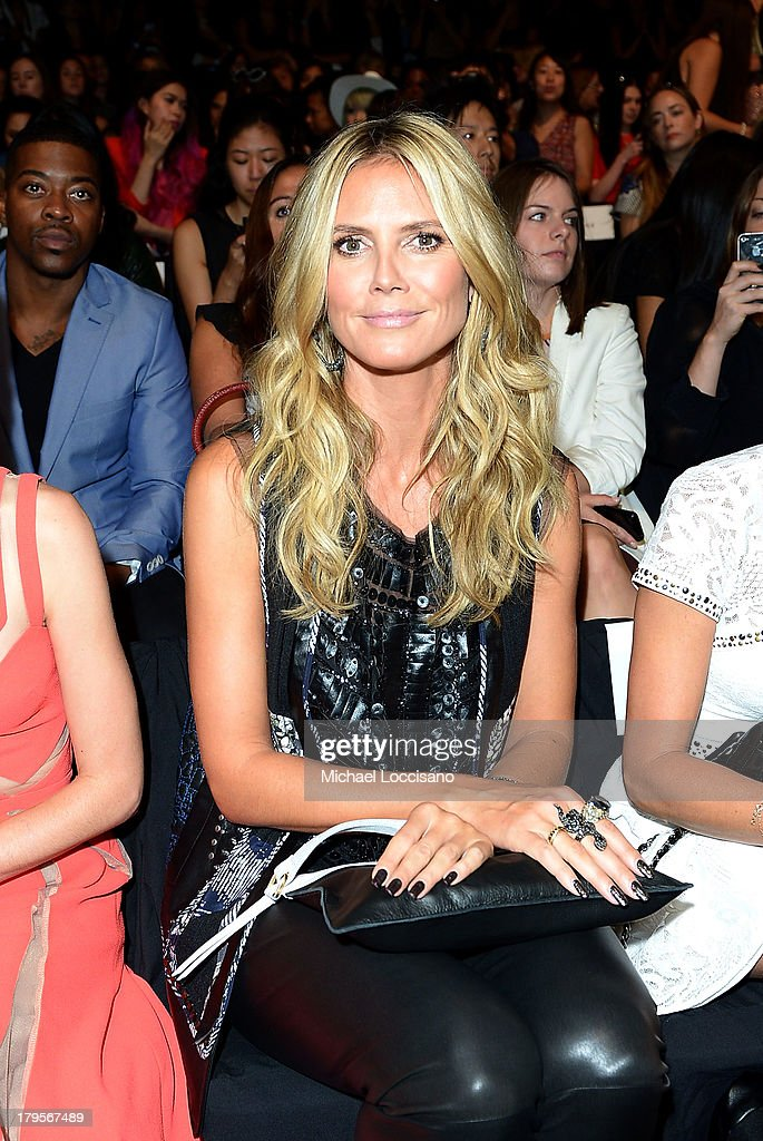 Model Heidi Klum attends the BCBGMAXAZRIA Spring 2014 fashion show during Mercedes-Benz Fashion Week at The Theatre at Lincoln Center on September 5, 2013 in New York City.