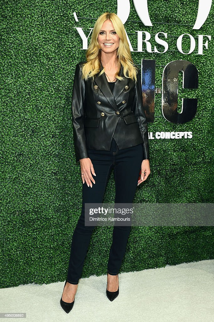 Model Heidi Klum attends the Glamour and INC International Concepts Denim Dash with Heidi Klum at Herald Square on October 30, 2015 in New York City.