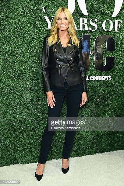 Model Heidi Klum attends the Glamour and INC International Concepts Denim Dash with Heidi Klum at Herald Square on October 30 2015 in New York City