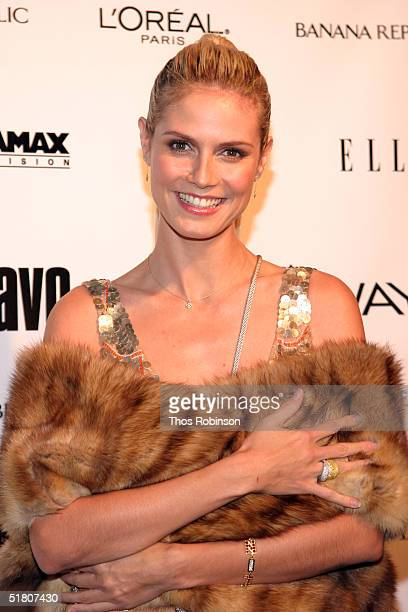 "Model Heidi Klum attends the Launch For ""Project Runway"" at PM launch for ""Project Runway"" at PM Lounge on November 30, 2004 in New York City."