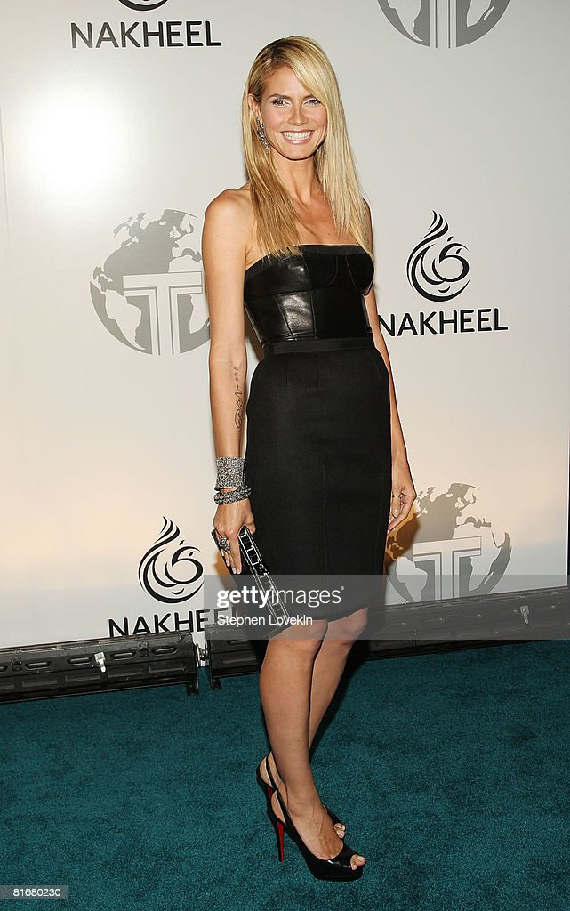 Model Heidi Klum attends the launch of Trump International Hotel and Tower Dubai on June 23, 2008 at the Park Avenue Plaza in New York City.