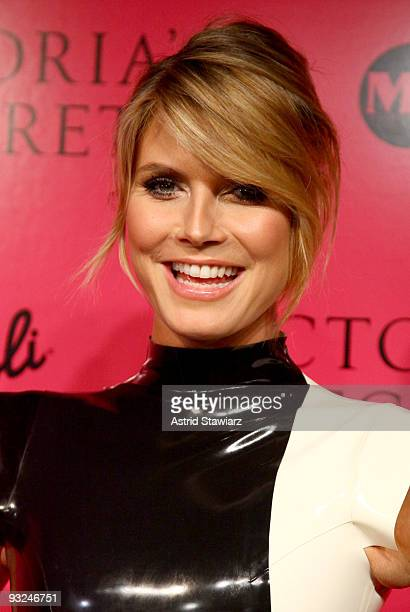 Model Heidi Klum attends the Victoria's Secret fashion show after party at M2 Ultra Lounge on November 19 2009 in New York City