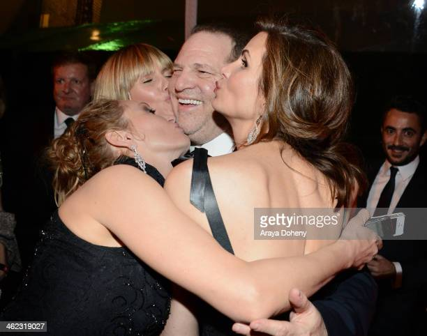 CoChairman of The Weinstein Company Harvey Weinstein and tv personality Heidi Klum and actress Uma Thurman attend The Weinstein Company Netflix's...