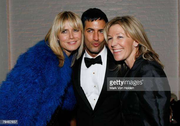 Model Heidi Klum Designer Marc Jacobs W Magazine Publisher Nina Lawrence attends the after party for the Cinema Society and W magazine's Special...