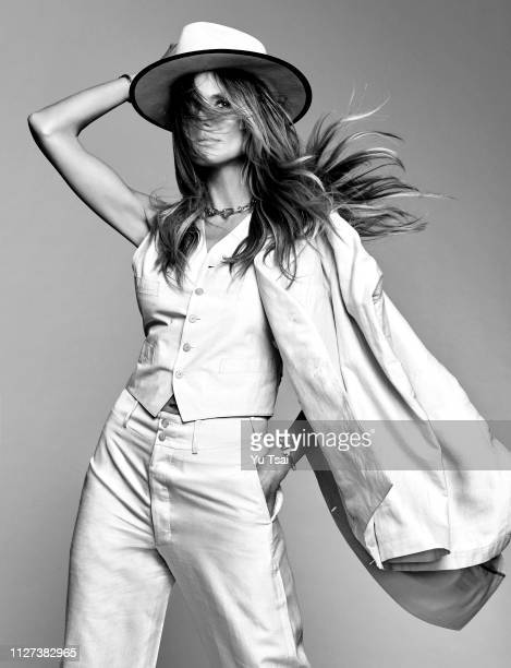Model Heidi Klum is photographed for Harper's Bazaar Singapore on April 28 2017 in Hollywood California PUBLISHED IMAGE