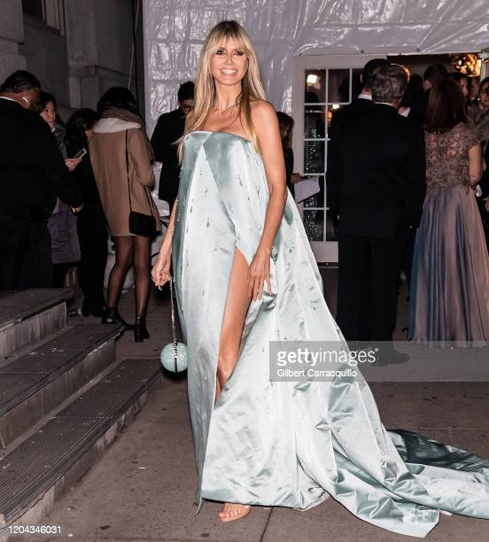 Model Heidi Klum is seen arriving to the 2020 amfAR New York Gala at Cipriani Wall Street on February 05 2020 in New York City