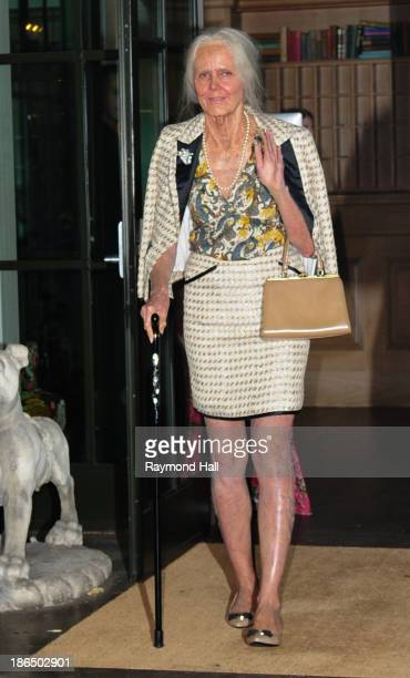 Model Heidi Klum is seen dressed up as an old woman coming out of her hotel on October 31 2013 in New York City