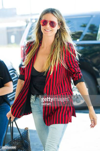Model Heidi Klum is seen in Queens on June 12 2017 in New York City