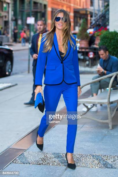 Model Heidi Klum is seen in SoHo on September 7 2017 in New York City