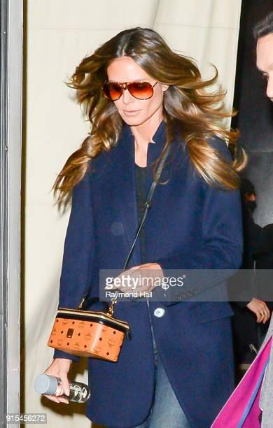 Model Heidi Klum is seen walking in Soho on February 7 2018 in New York City
