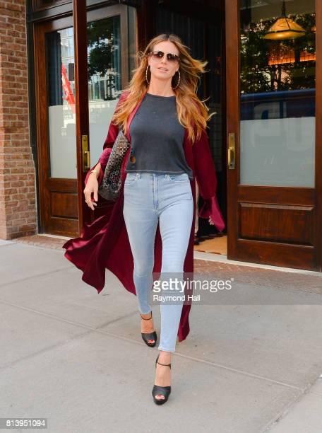 Model Heidi Klum is seen walking in Soho on July 13 2017 in New York City