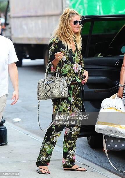 Model Heidi Klum is seen walking in Soho on July 6 2016 in New York City