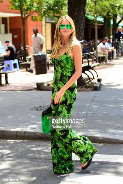 Model Heidi Klum is seen walking in SoHo on June 25 2018 in New York City