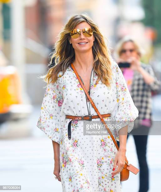 Model Heidi Klum is seen walking in soho on June 29 2018 in New York City