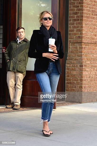 Model Heidi Klum is seen walking Soho on June 9 2016 in New York City