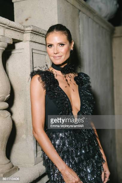 Model Heidi Klum poses for a portrait at Ron Burkle's Green Acres Estate on October 13 2017 in Beverly Hills California