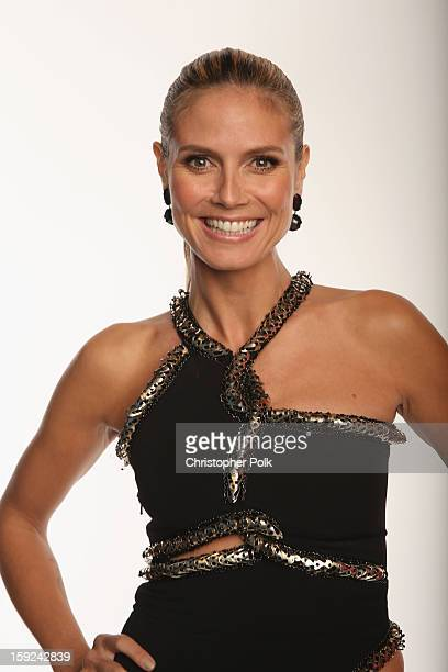 Model Heidi Klum poses for a portrait during the 39th Annual People's Choice Awards at Nokia Theatre LA Live on January 9 2013 in Los Angeles...