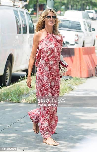 Model Heidi Klum seen in West Village on August 19 2015 in New York City
