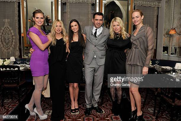 **EXCLUSIVE** Model Heidi Klum stylist Rachel Zoe actress Demi Moore designer Roland Mouret photographer Amanda de Cadenet and actress Amber Valletta...
