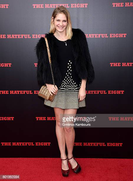 Model Heidi Mount attends the New York premiere of 'The Hateful Eight' on December 14 2015 in New York City