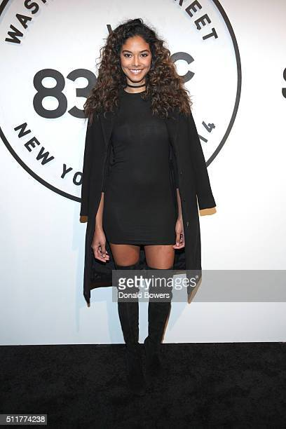Model Heidy De la Rosa attends Samsung 837 Launch with Florence The Machine at Samsung 837 in Meatpacking District on February 22 2016 in New York...