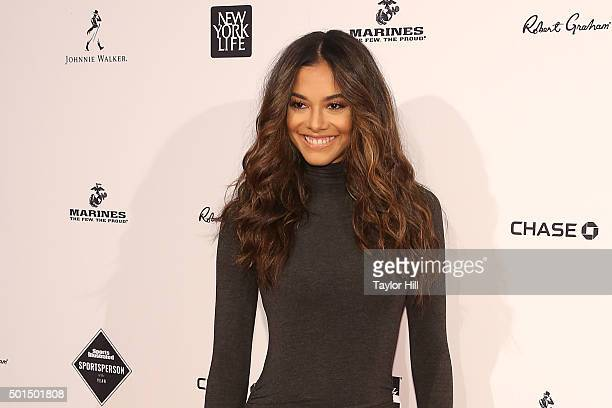 Model Heidy de la Rosa attends the 2015 Sports Illustrated Sportsperson Of The Year Ceremony at Pier Sixty at Chelsea Piers on December 15 2015 in...