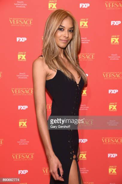 Model Heidy De la Rosa attends The Assassination Of Gianni Versace American Crime Story New York screening at Metrograph on December 11 2017 in New...