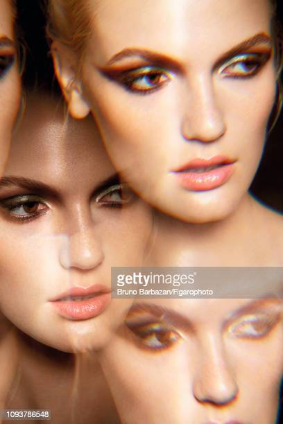 Model Helen Bouchard poses for a beauty shoot for Madame Figaro on July 9, 2018 in Paris, France. PUBLISHED IMAGE. CREDIT MUST READ: Bruno...