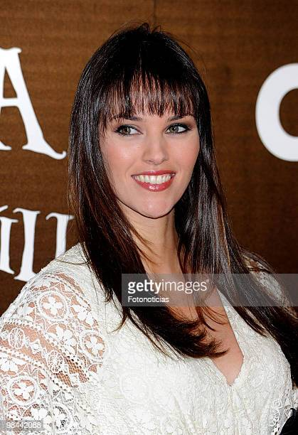 Model Helen Lindes attends 'Alicia en el Pais de las Maravillas' premiere at Proyecciones Cinema on April 13 2010 in Madrid Spain
