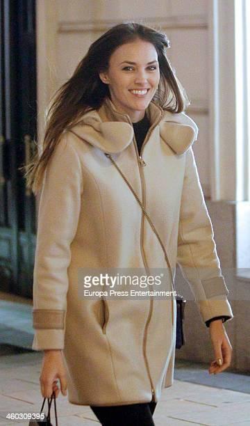 Model Helen Lindes is seen on December 21 2013 in Madrid Spain
