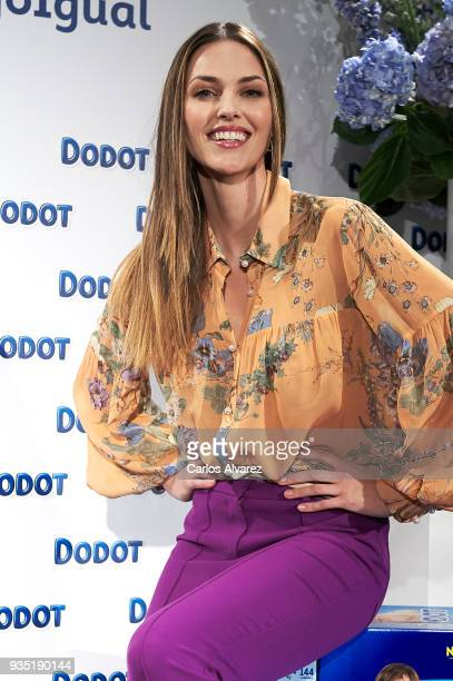Model Helen Lindes presents new Dodot campaign at the Petit Hotel on March 20 2018 in Madrid Spain