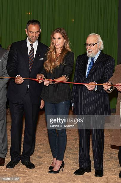 Model Helen Svedin attends the opening of the Madrid Horse Week 2015 at IFEMA on November 26 2015 in Madrid Spain